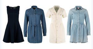 Cztery modne sukienki z jeansu