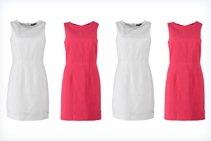 Sukienki z lnu - białe i czerwone