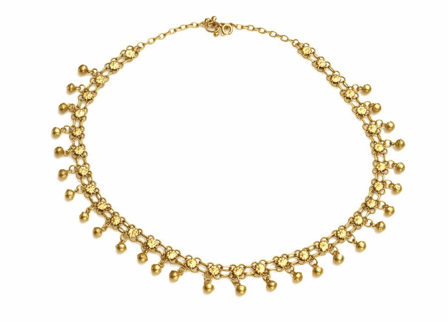 Damski naszyjnik z białego złota