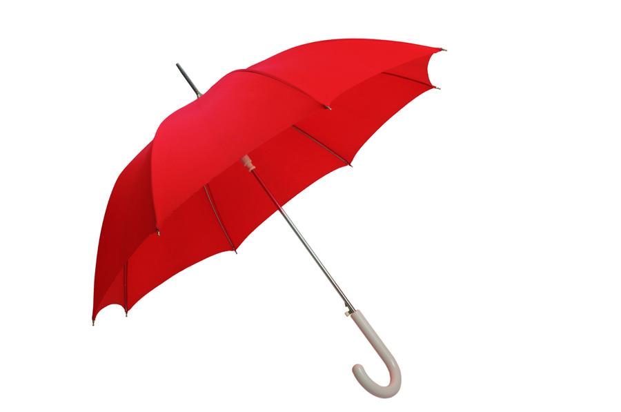 Czerwony parasol przeciwdeszczowy