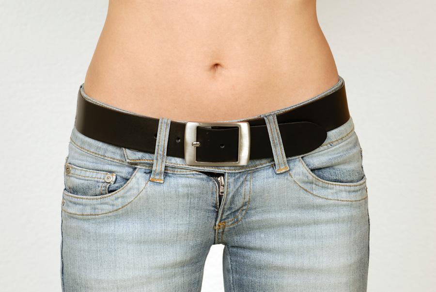 Czarny pasek do jeansów