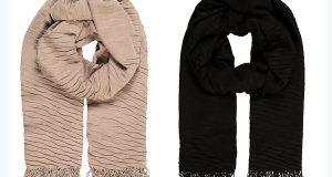 Dwie pashminy - beżowa i czarna