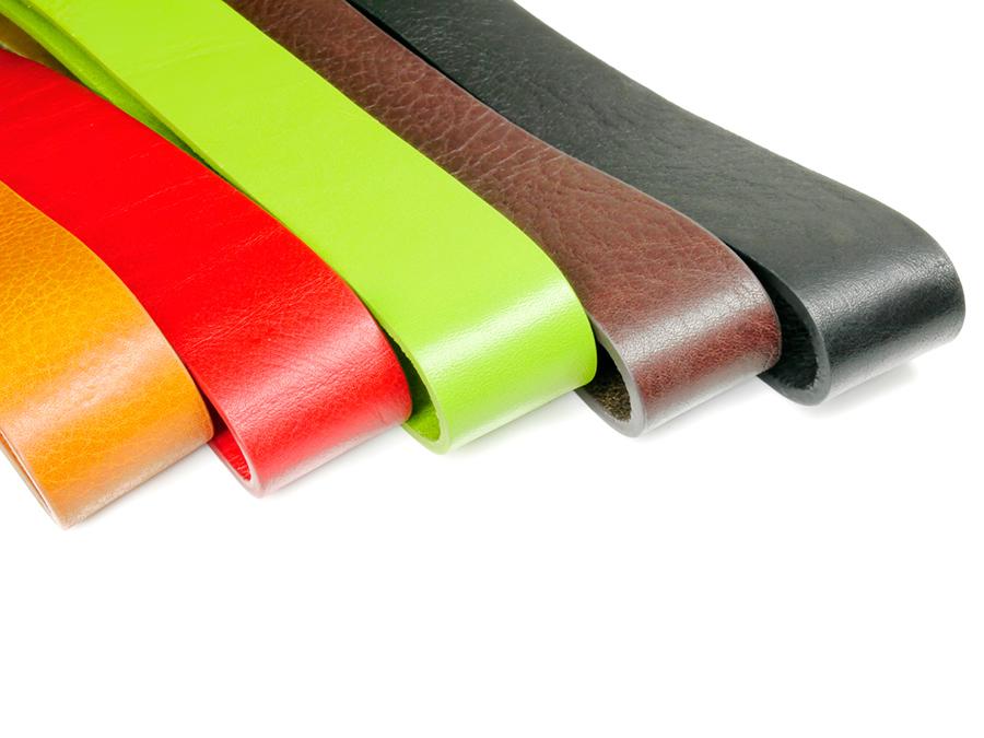 Pomarańczowy, czerwony, zielony, brązowy i czarny pasek do spodni