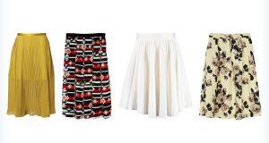 Kunsztowne damskie plisowane spódnice