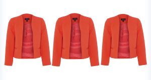 Trzy pomarańczowe marynarki