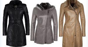 Długie skórzane płaszcze