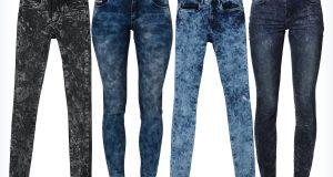 Młodzieżowe spodnie marmurki