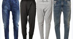 Młodzieżowe spodnie z krokiem