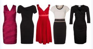 Czarne i czerwone sukienki dla puszystych