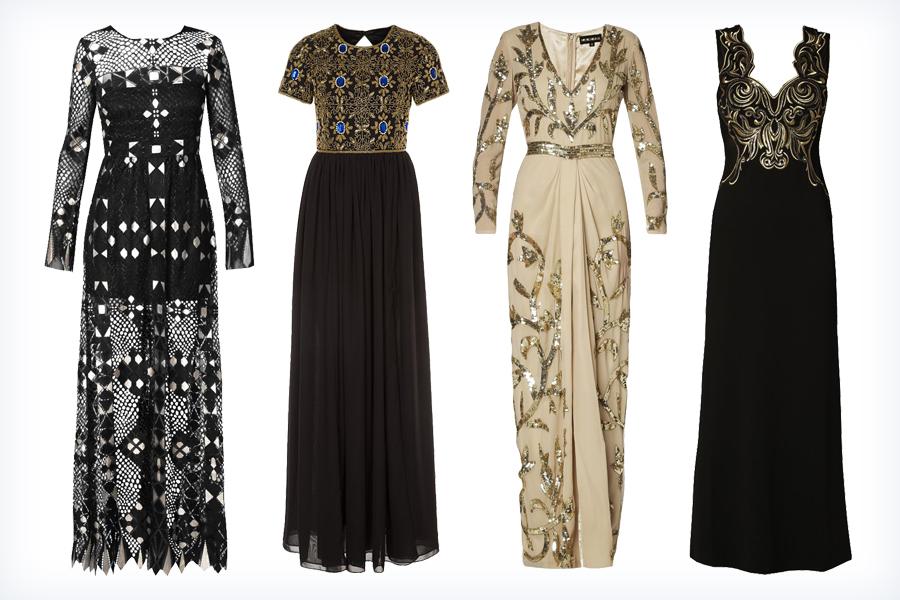 Modne suknie wieczorowe w ciemnych kolorach