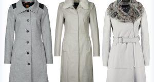 Stylowe szare płaszcze