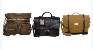 Trzy skórzane torby do liceum