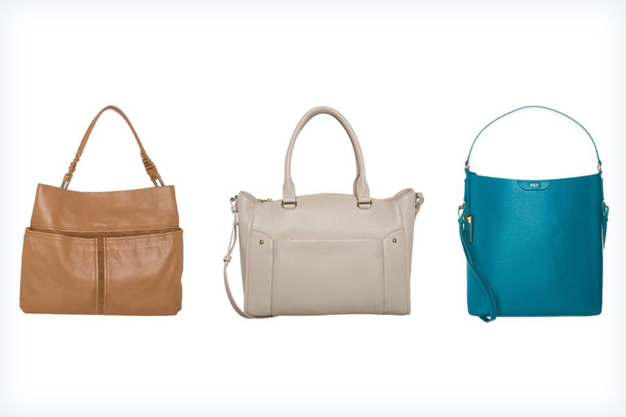 Trzy kunsztowne kolorowe torebki hobo