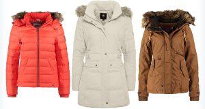 Trzy damskie kurtki na zimę