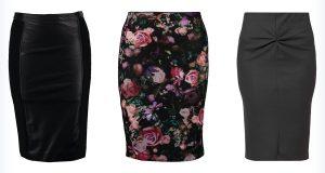 Trzy modne spódnice ołówkowe