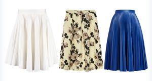 Trzy modne spódnice plisowane