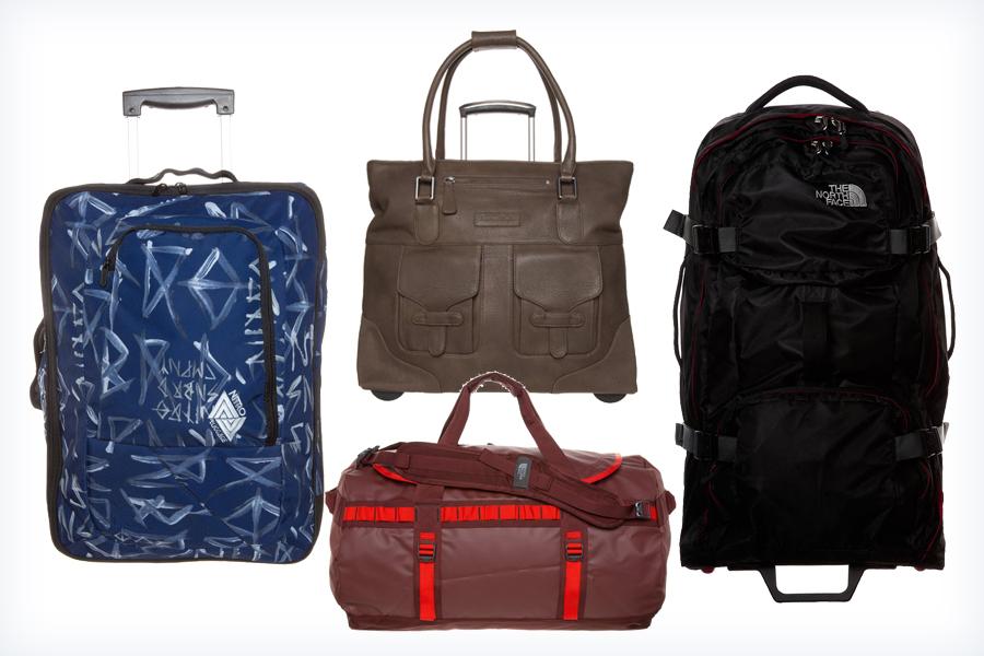 Damskie kolorowe walizki i torby podróżne