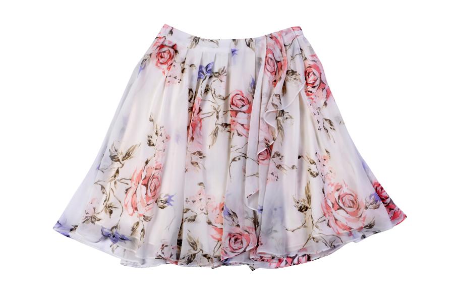 Młodzieżowa wiosenna spódnica w kwiaty