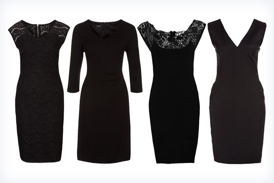 Czarne sukienki wyszczuplające