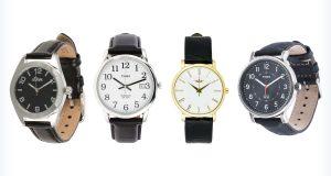 Ciemne, klasyczne zegarki do garnituru