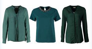 Trzy zielone bluzki