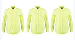 Trzy damskie żółte koszule