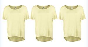Damskie żółte koszulki