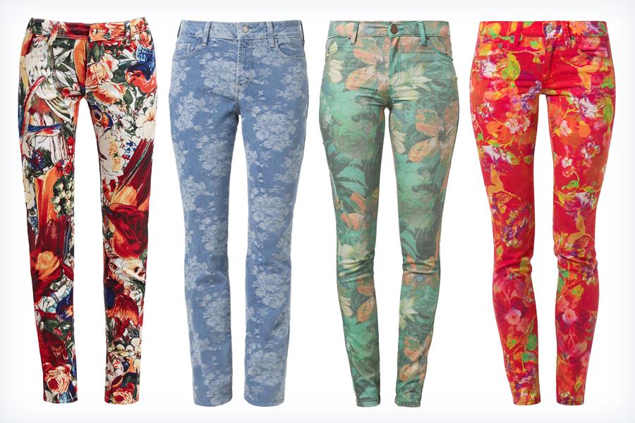 Inteligentny Jeansy w kwiaty - jak nosić, jak wybrać? NG71